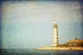 Lighthouse, Cape Chersonesus (Hersones) in Crimea near Sevastopo — Stock Photo