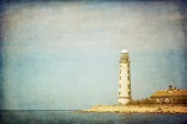 Lighthouse, Cape Chersonesus (Hersones) in Crimea near Sevastopo — Stock Photo