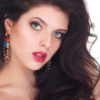 Sexy Beauty Girl with Red Lips. Provocative Make up. Luxury Woma — Stock Photo #53065825