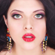 Sexy Beauty Girl with Red Lips. Provocative Make up. Luxury Woma — Stock Photo #53065853