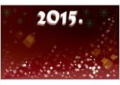 Happy New 2015. postcard — Stock Vector