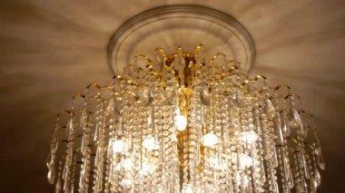 Original chandelier — Stock Video