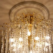 Elegant chandelier in the ballroom — Stock Video #68990409