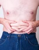 Толстый человек — Стоковое фото