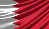 Machać flaga Bahrajnu — Zdjęcie stockowe