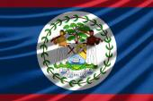 Waving flag of the Belize — Foto de Stock