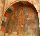 fresco of Saint Nicholas Church ,Turkey — Stock Photo