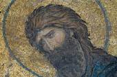 Close-up of mosic with John the Baptist, Istanbul — Stock Photo