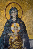 Mosaic of Virgin Mother and Child — Stockfoto