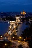мост цепи - будапешт — Стоковое фото