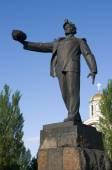 mine worker monument - Donetsk — Stock Photo
