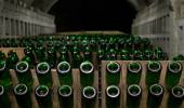 Champagne production — Stockfoto