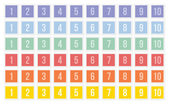 Sets of postage stamps with numbers — Stockvektor
