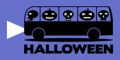 Autobús de halloween — Vector de stock