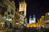 Old Town Square at night, Prague — Foto de Stock