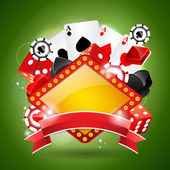 Obrázek na téma kasino s mašlí. — Stock vektor