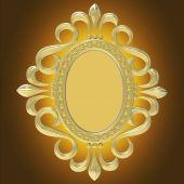 孤立在白色背景上的金色复古框 — 图库照片