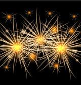 Vektorové pozadí aplikace fireworks — Stock vektor