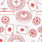 Seamless casino pattern — Stock Photo