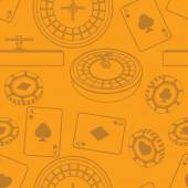 Seamless casino pattern — Stock Photo