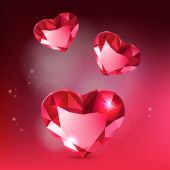 Tree Diamond Hearts — Stockvector