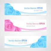Rose banner collection — Stock Vector
