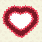 Abstract background with cut paper heart. — Stock Vector