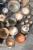 Flea market jugs — Stock Photo