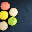 Fresh pastries, colorful macaroon — Stock Photo #52851899