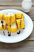 Boiled corn with soy sauce — Foto Stock