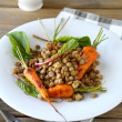 Boiled green lentils and carrots — Stock Photo #53217475