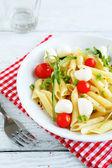 Pasta with cherry tomatoes — Stock Photo