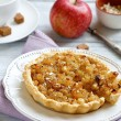 Постер, плакат: Crispy pie with slices of apples
