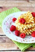 Waffles freshly baked sweet — Stock Photo
