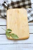 Bay leaf on a cutting board — Stock Photo