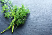 Fresh dill on slate background — Stockfoto