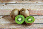 Four pieces of kiwi fruit — Stock fotografie