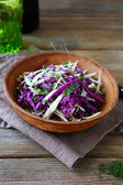 Fresh sliced cabbages salad in bowl — Photo