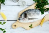Dorade with parsley and lemon pepper — Stock Photo