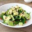 Salad with slices of avocado and spinach — Stock Photo #54312369