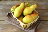 Pears in a drawer — Stock Photo