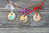 Christmas cookies on the boards — Stock Photo