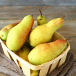 Pears in a wooden box — Stock Photo #54900773