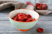Delicious sun-dried tomatoes in a bowl — Stock Photo