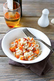 Steamed rice with carrots and spices — Stockfoto