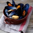Blue mussel in shells — Stock Photo #55494657