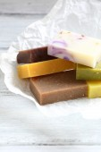 Scented soap on paper — Stock Photo