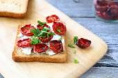 Bruschetta with sun-dried tomatoes — Stock Photo