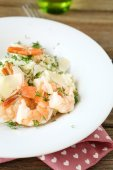 Italian Rice with shrimp and dill — Photo