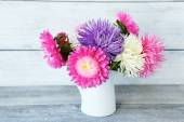 Bouquet of colorful asters — Stock Photo